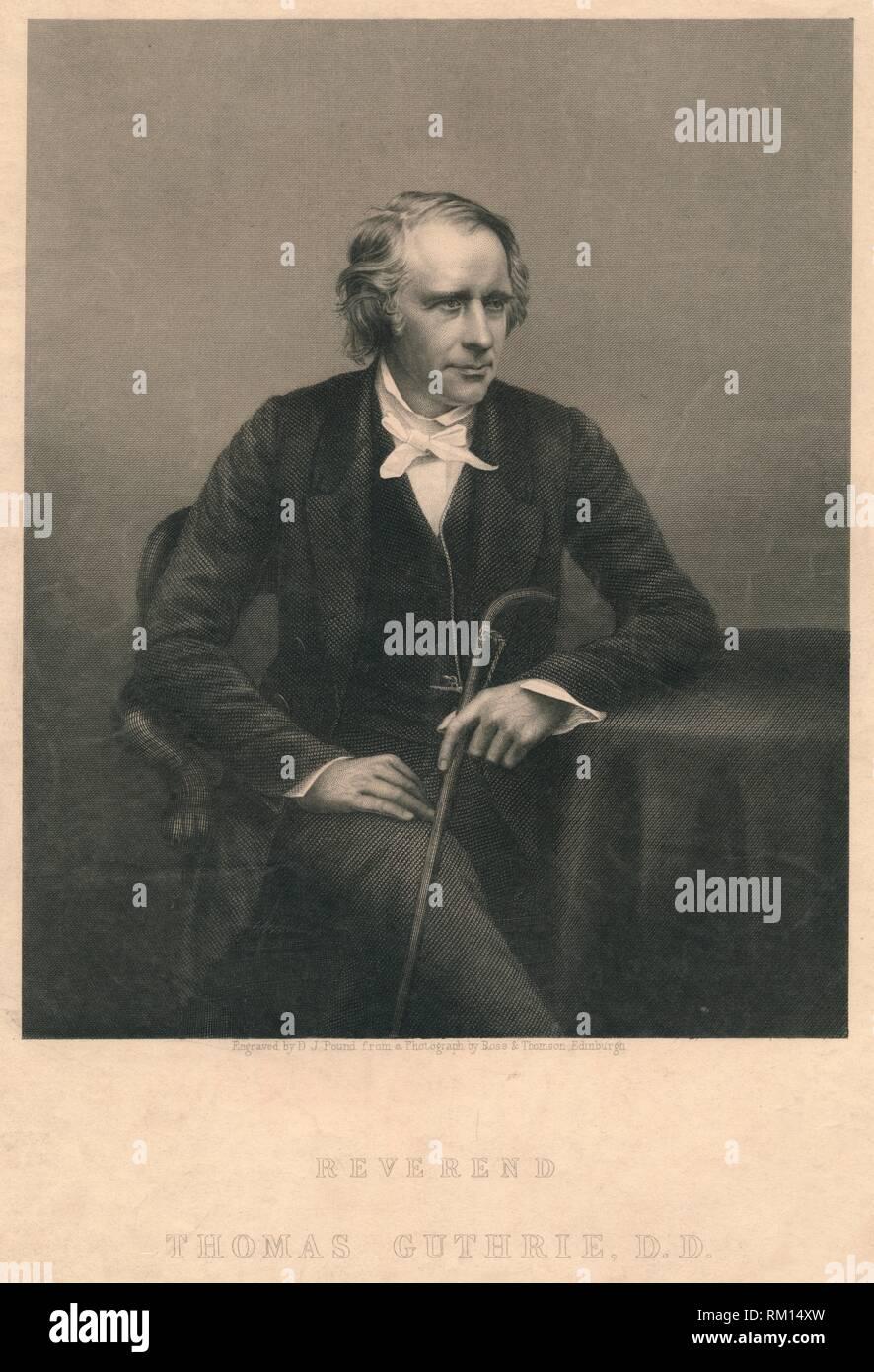 'Reverend Thomas Guthrie, D.D.', 1850s. Creators: Daniel John Pound, Ross and Thompson. - Stock Image