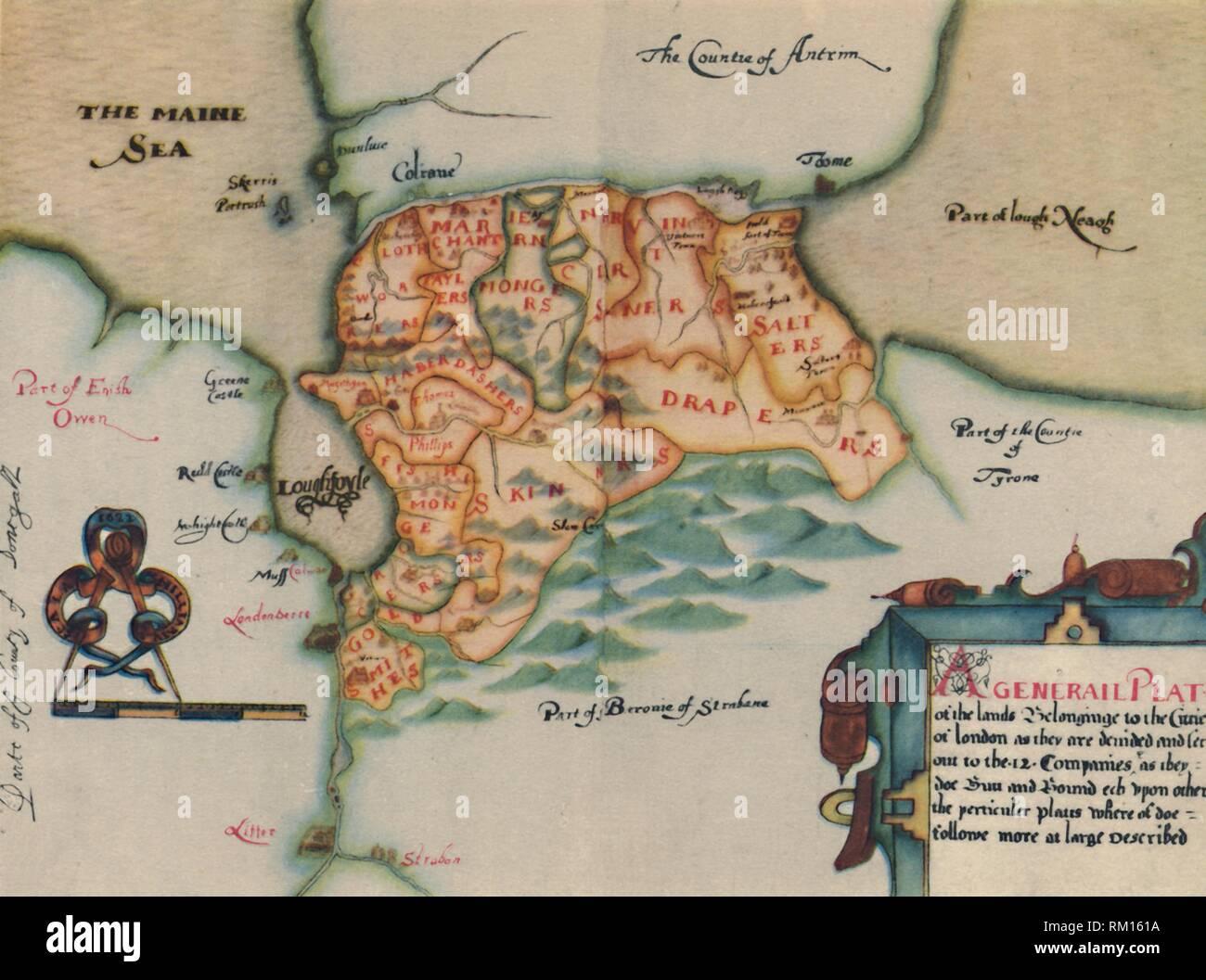 Province of Ulster Old Map Johan Blaeu Seventeenth Century