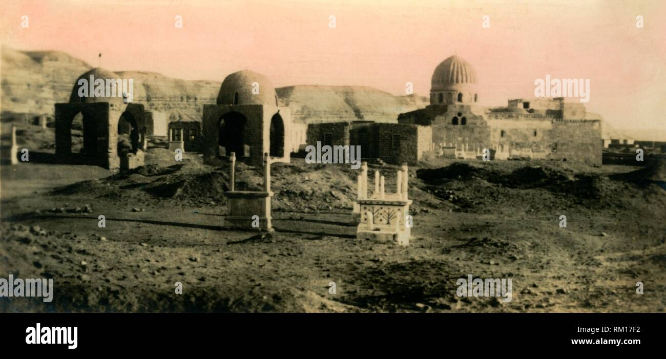 'Cairo: The Khalifa Tombs', c1918-c1939. From an album of postcards. Stock Photo
