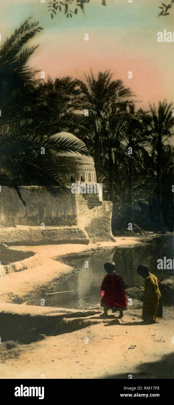 'Cairo: Village of Marg', c1918-c1939. From an album of postcards. - Stock Image