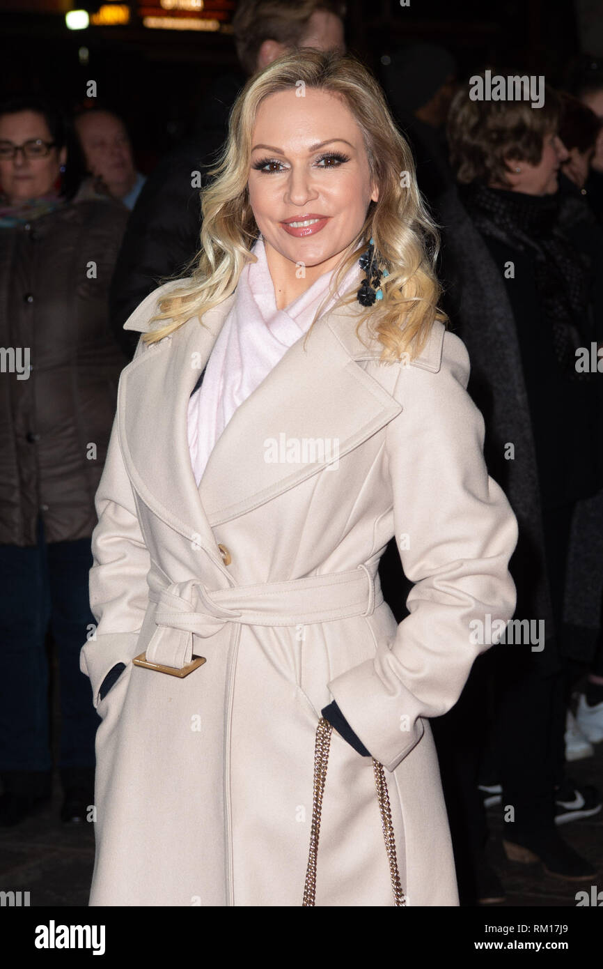 Kristina Rihanoff attending the press night of Rip It Up, at the Garrick Theatre in central London. - Stock Image