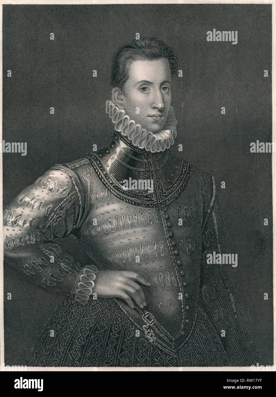 'Sir Philip Sidney', c1576, (early-mid 19th century).  Creator: Unknown. - Stock Image