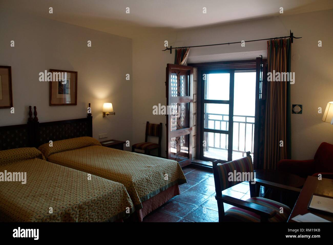 Jaén (Spain). Interior of a hotel room in the city of Jaén. - Stock Image