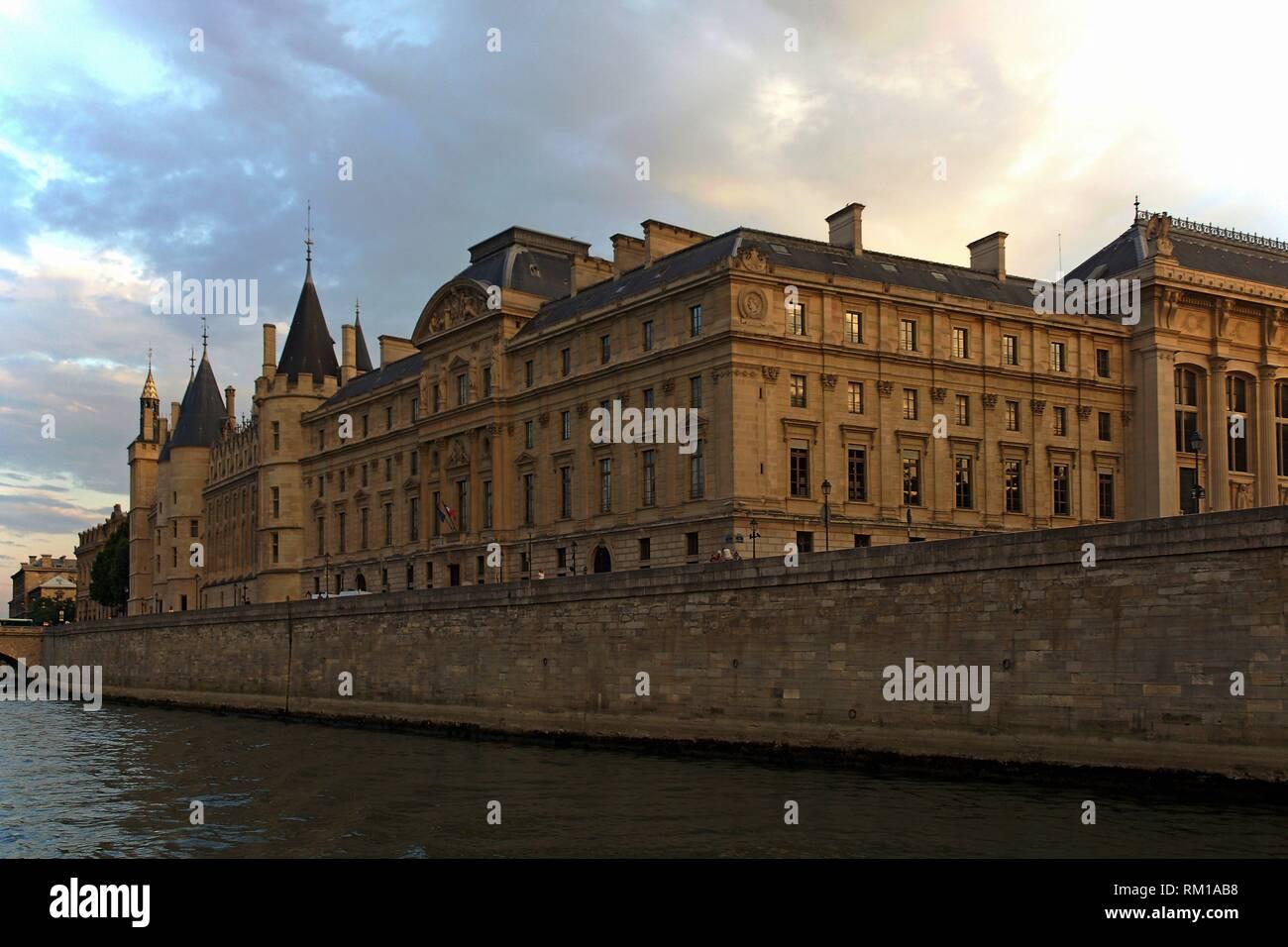 Paris (France). La Conciergerie on Ile de la Cité in Paris city. Stock Photo