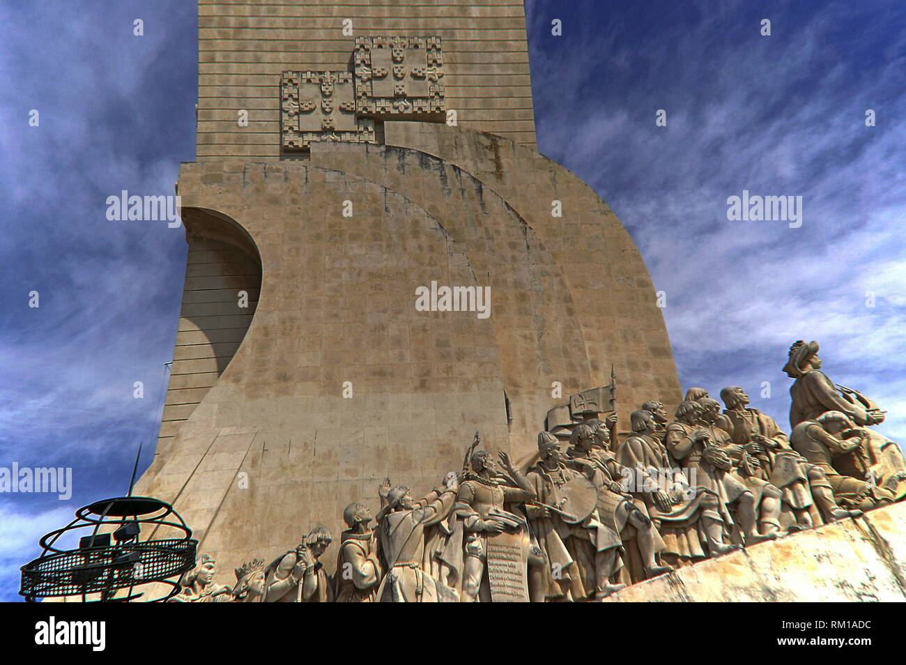 Lisbon (Portugal). Monument to the Discoveries in Lisbon. - Stock Image