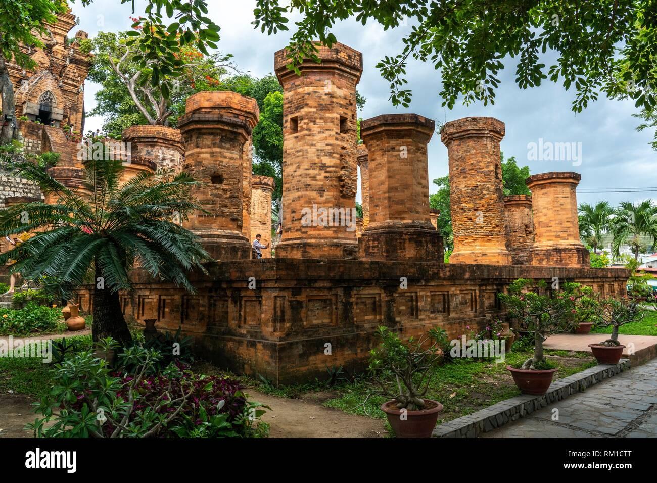 Cham temple Po Nagar near Nha Trang city, Vietnam, Asia - Stock Image