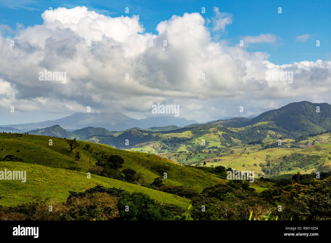 view to the lake arenal, costa rica - Stock Image
