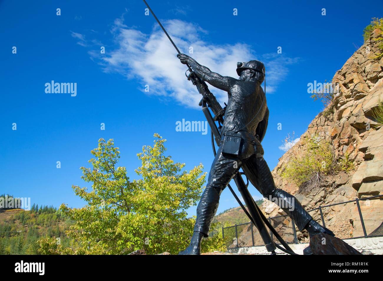 Sunshine Mine Disaster Memorial, Kellogg, Idaho. - Stock Image