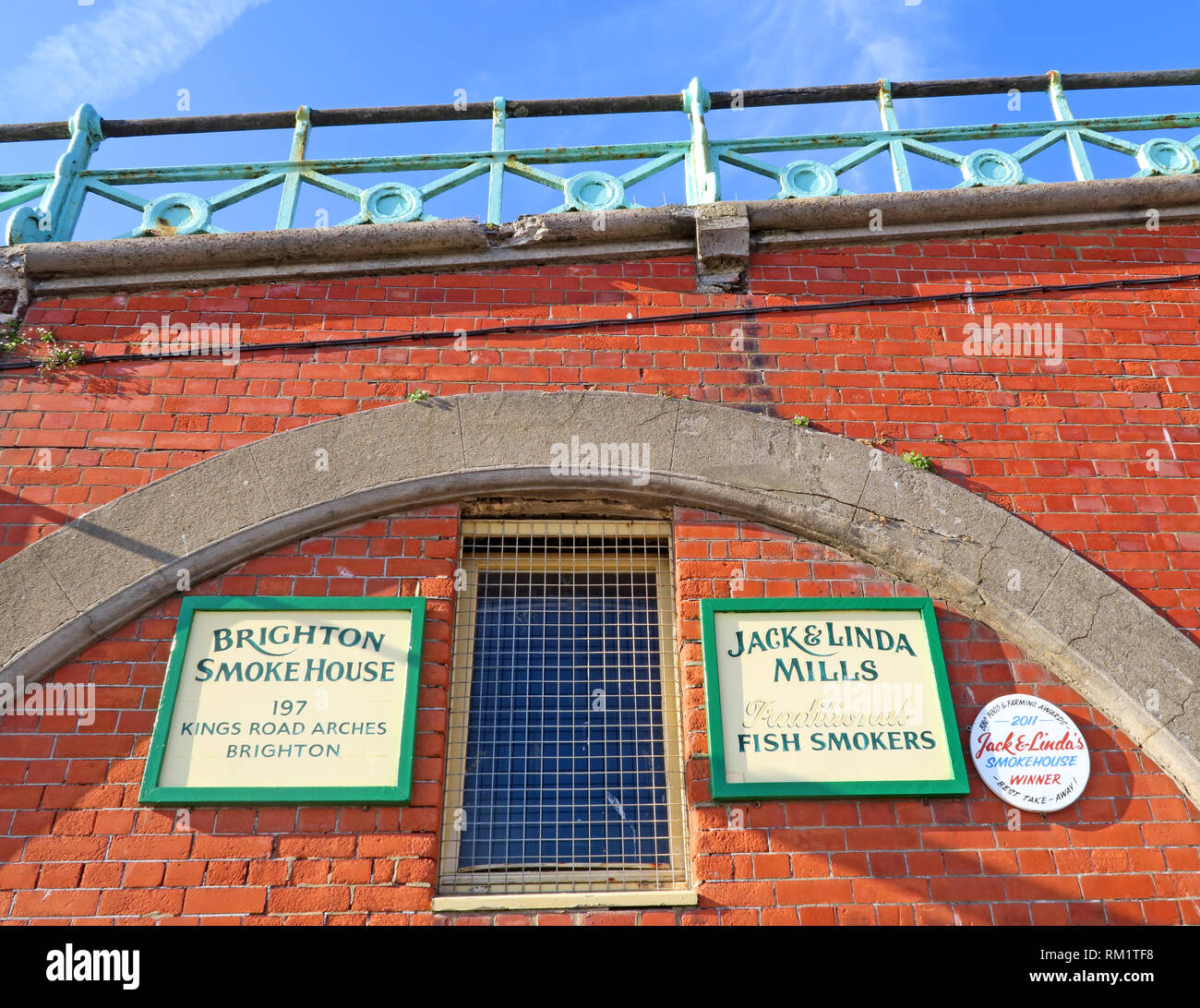 The Brighton Smokehouse, 197 Kings Road  Arches Brighton, Jack Linda Mills traditional Fish Smokers, Brighton city, UK - Stock Image