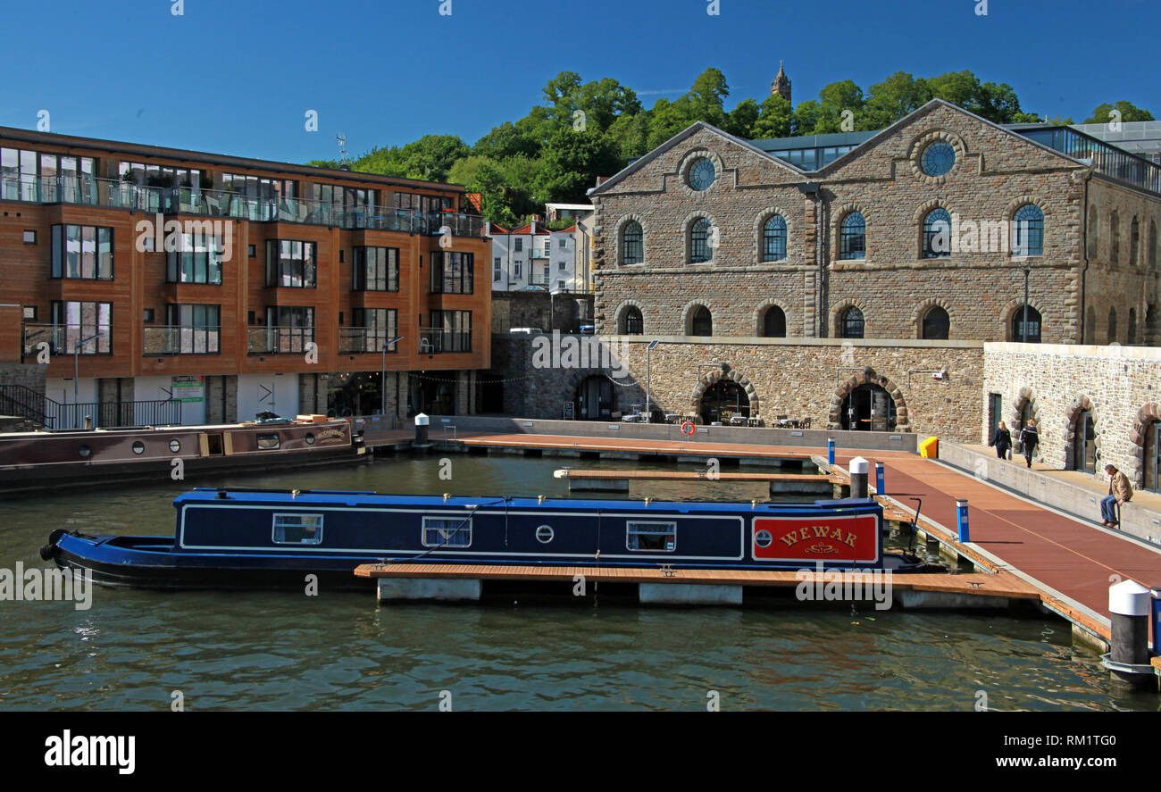Wewar and Hodmaded barges at moorings, Bristol Docks, South West England, UK - Stock Image