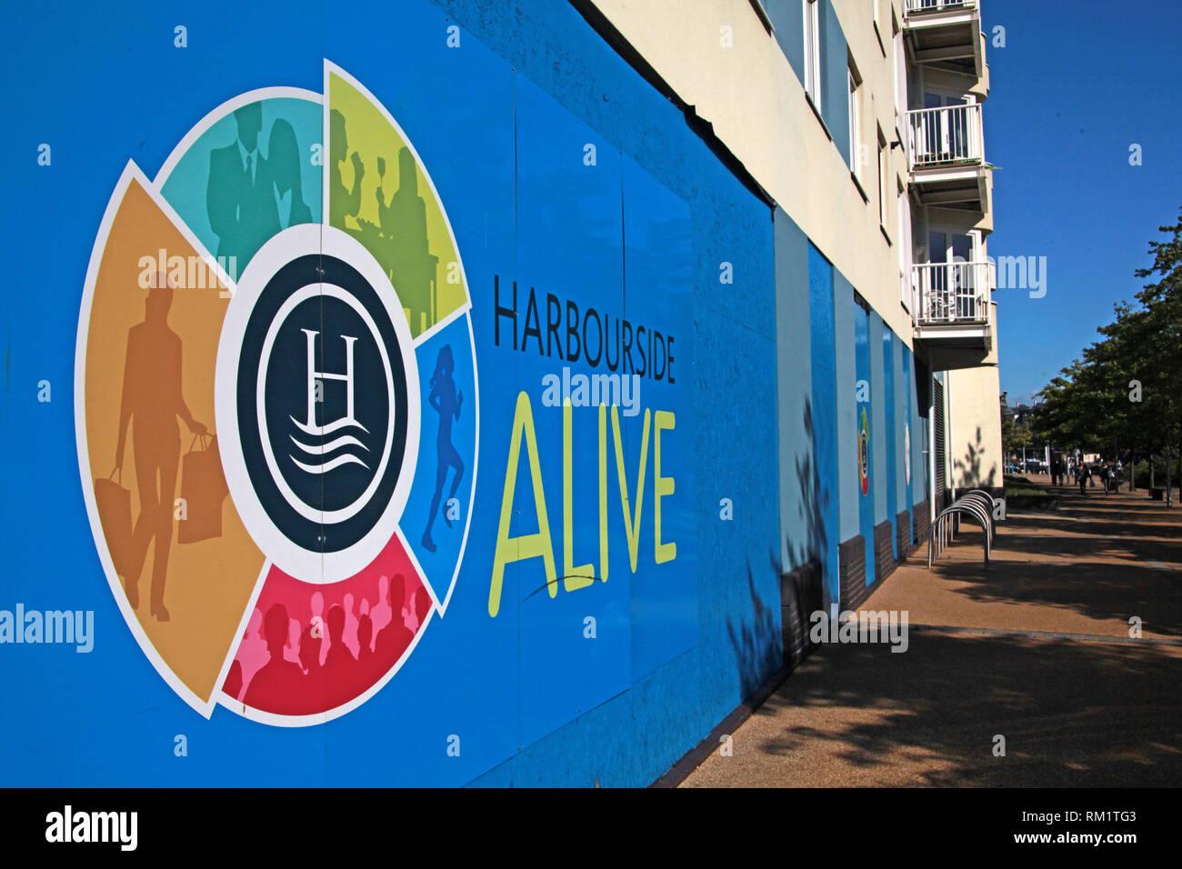 Bristol Harbourside Alive development, Bristol Harbour, South West England, UK - Stock Image