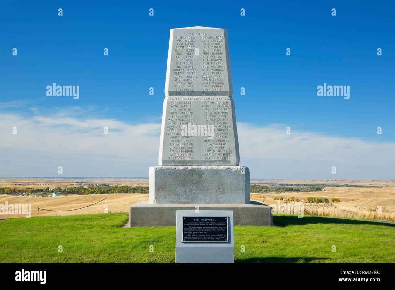 7th Cavalry Memorial, Little Bighorn Battlefield National Monument, Montana. - Stock Image