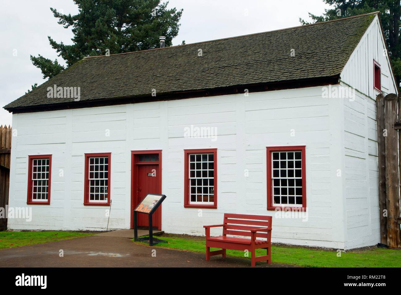 Bakehouse, Fort Vancouver National Historic Site, Vancouver National Historic Reserve, Washington. - Stock Image