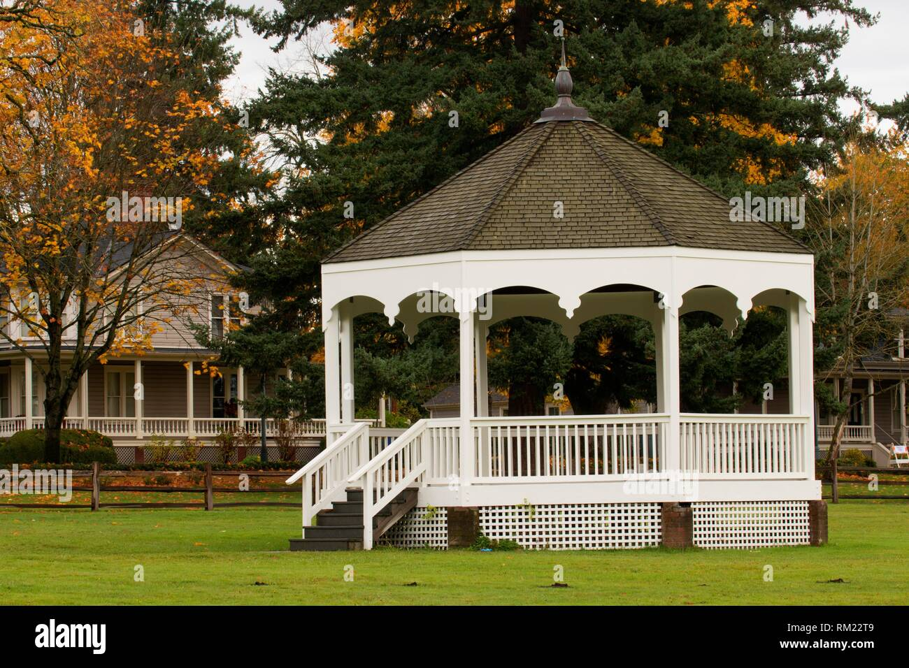 Bandstand, Fort Vancouver National Historic Site, Vancouver National Historic Reserve, Washington. - Stock Image