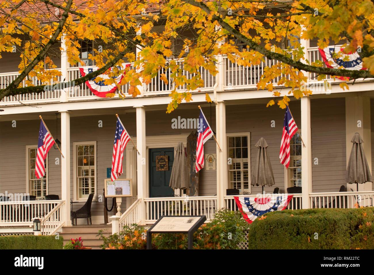 Grant House, Fort Vancouver National Historic Site, Vancouver National Historic Reserve, Washington. - Stock Image