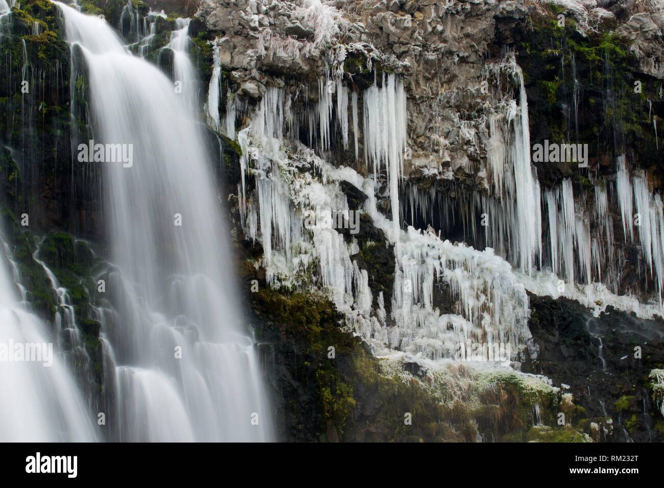 Waterfall, Thousand Springs State Park-Ritter Island, Idaho. - Stock Image