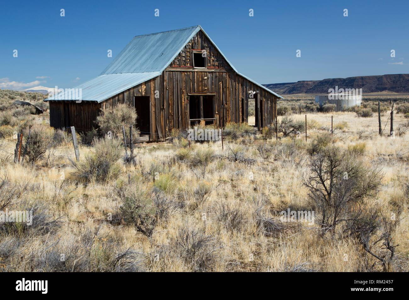 Ranch barn, Lakeview District Bureau of Land Management, Oregon. - Stock Image