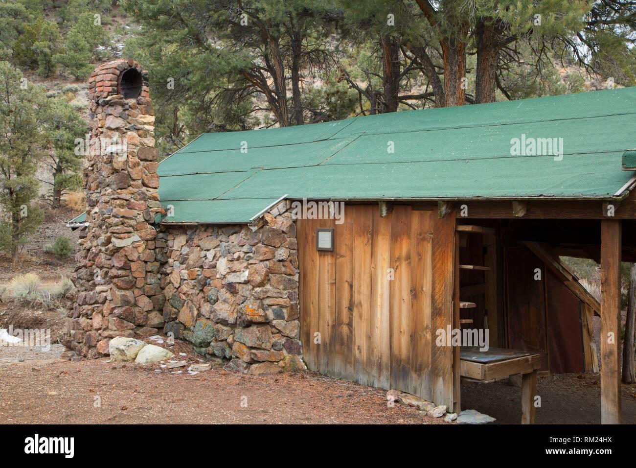 Dr. Camp's Cabin, Berlin-Icthyosaur State Park, Nevada. - Stock Image