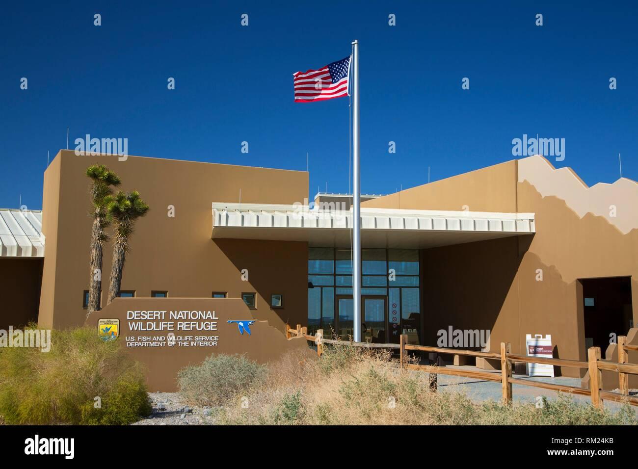Visitor Center, Desert National Wildlife Refuge, Nevada. - Stock Image
