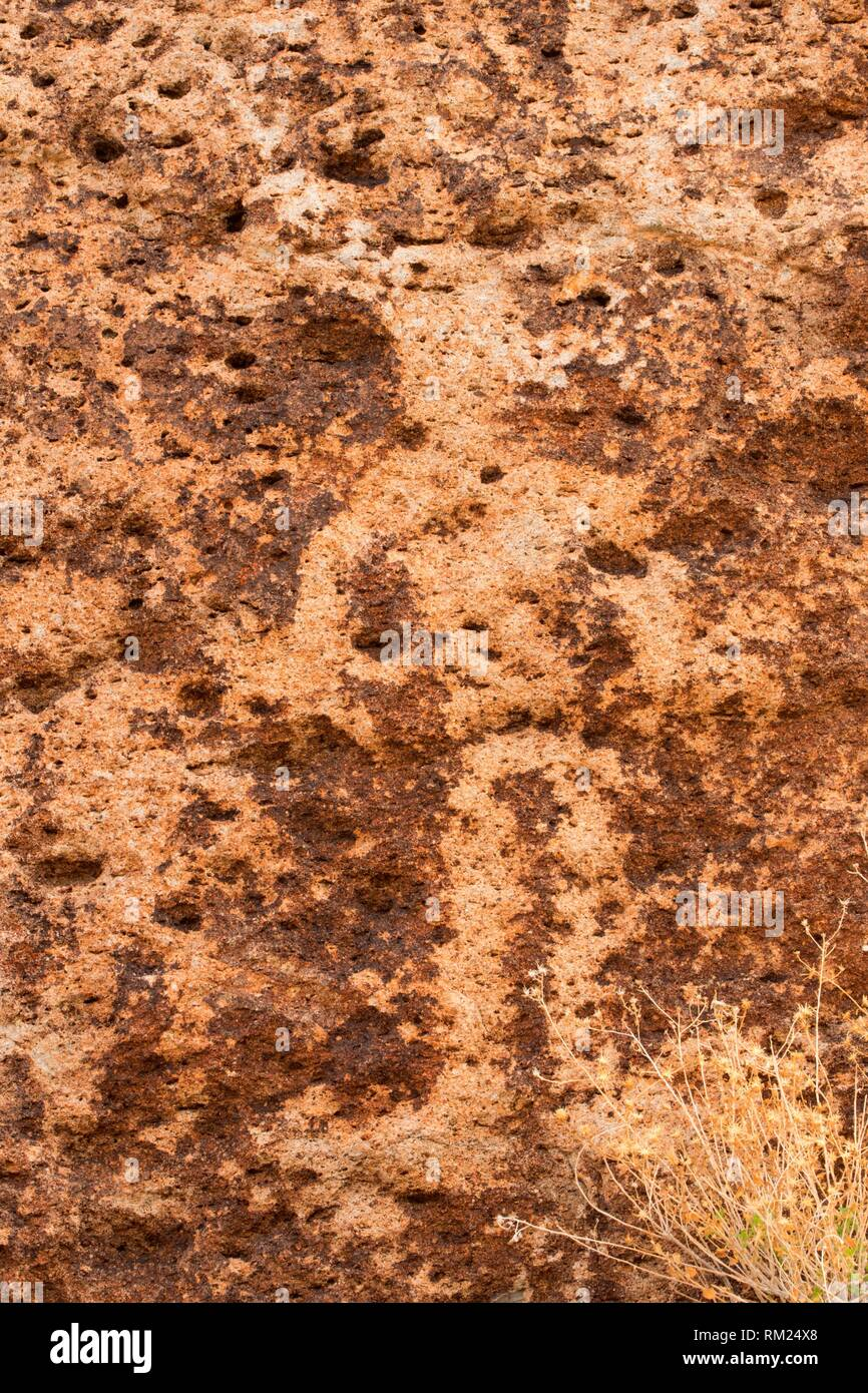 Petroglyphs at Crystal Wash, Caliente District Bureau of Land Management, Nevada. - Stock Image