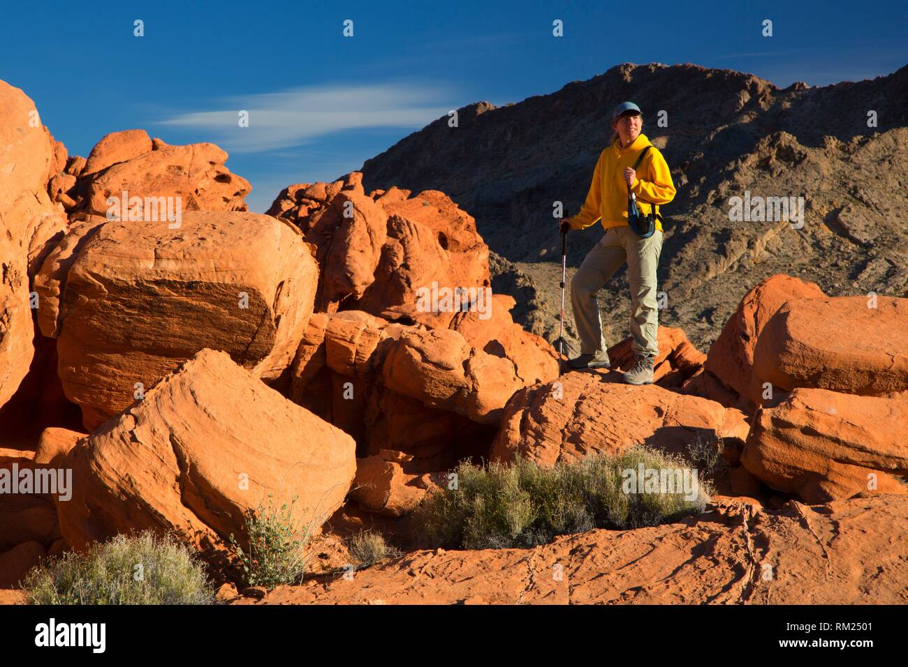Echo Hills from Redstone, Lake Mead National Recreation Area, Nevada. - Stock Image