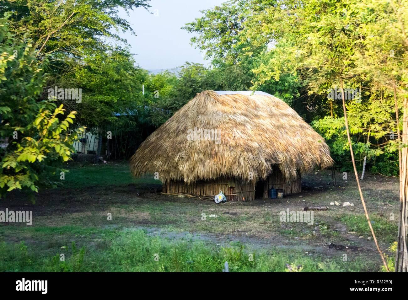 Village hut in the forest. Ciudad Valles, San Luis Potosí. Mexico. - Stock Image