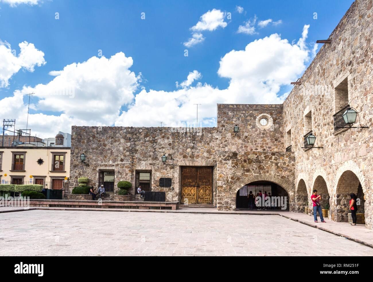 The downtown in a summer day. San Luis Potosí, San Luis Potosí. Mexico. - Stock Image