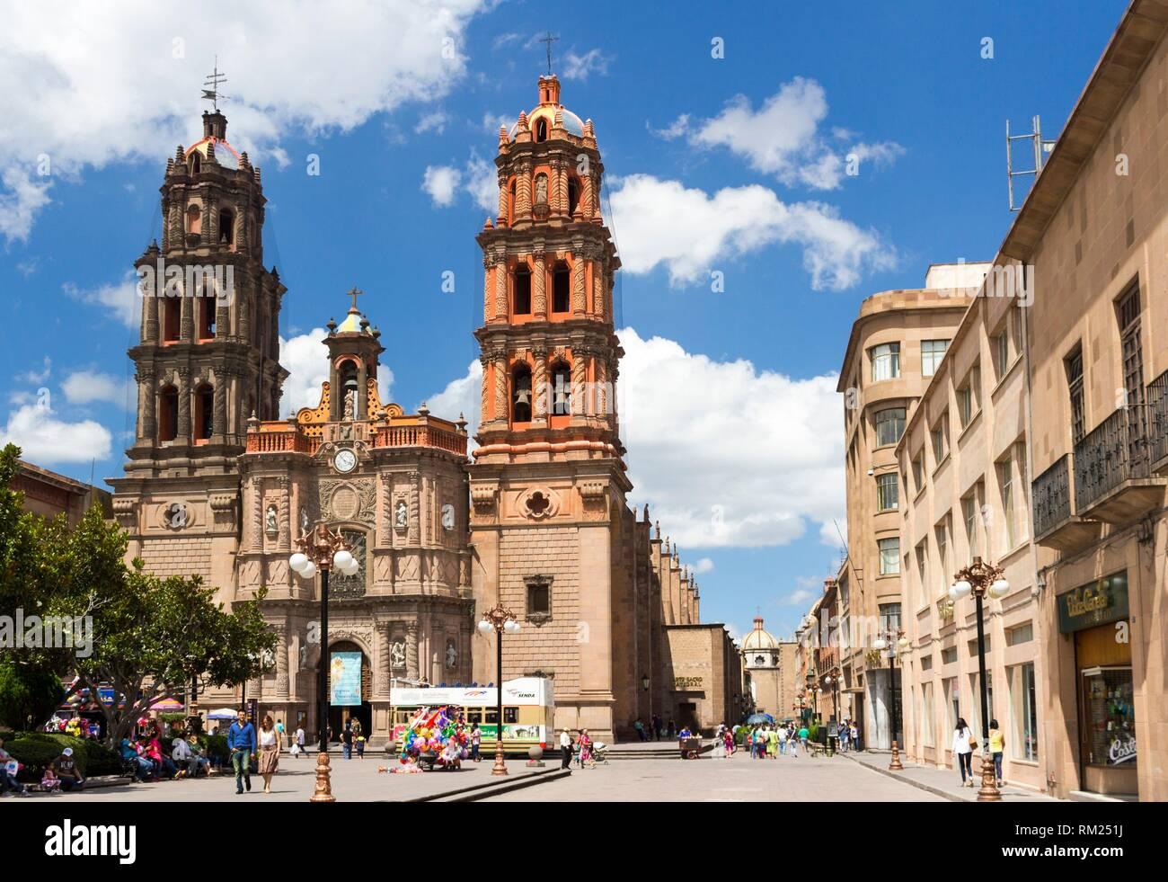 The St Agustin church in a summer day. San Luis Potosí, San Luis Potosí. Mexico. - Stock Image