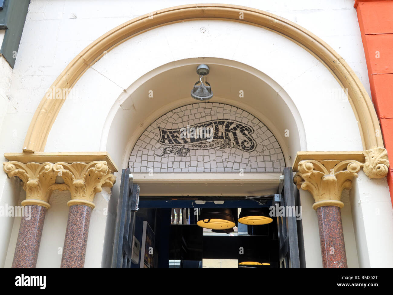 Afflecks Palace Entrance, Retro clothing emporium, 52 Church St, Manchester, North West England, UK,  M4 1PW - Stock Image