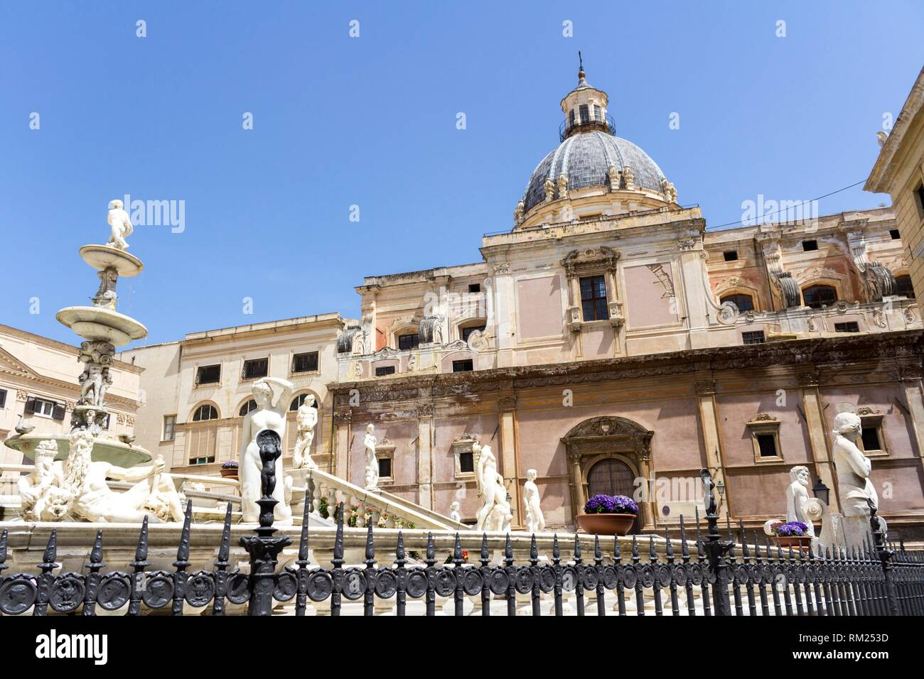 Piazza Pretoria also known as square of Shame. Palermo, Sicily. Italy. - Stock Image