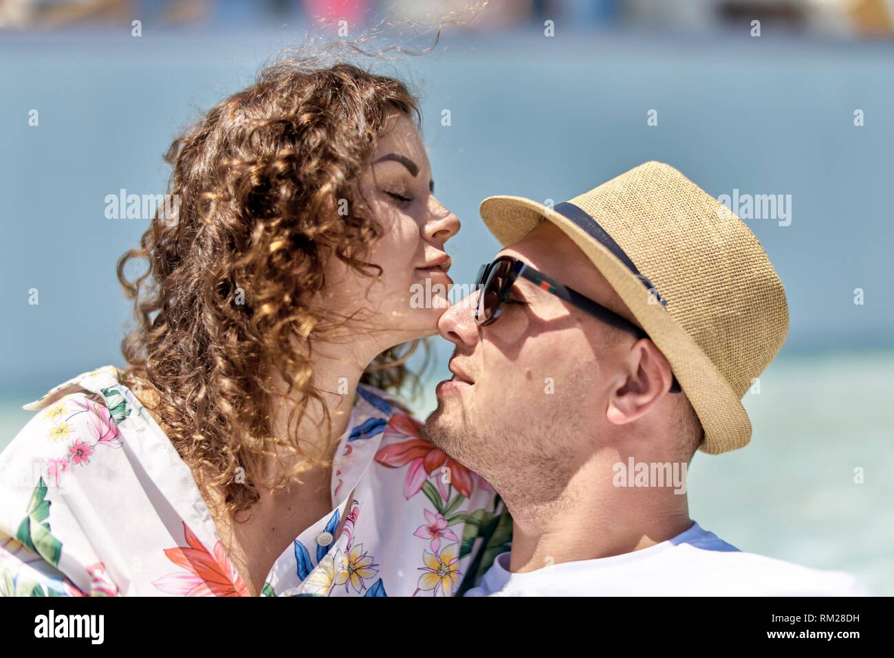 lovers, holiday, summer, flirting, affair, summer fling - Stock Image