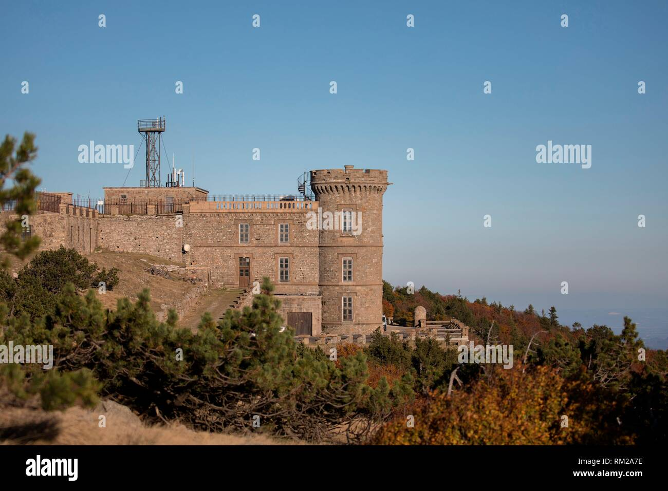 Aigoual mont meteorological observatory. - Stock Image