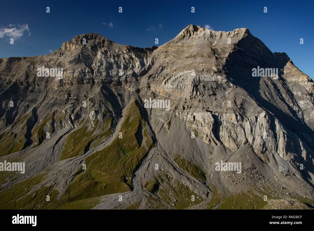 View taken from the south in the Bernese Alps. Switzerland. - Stock Image