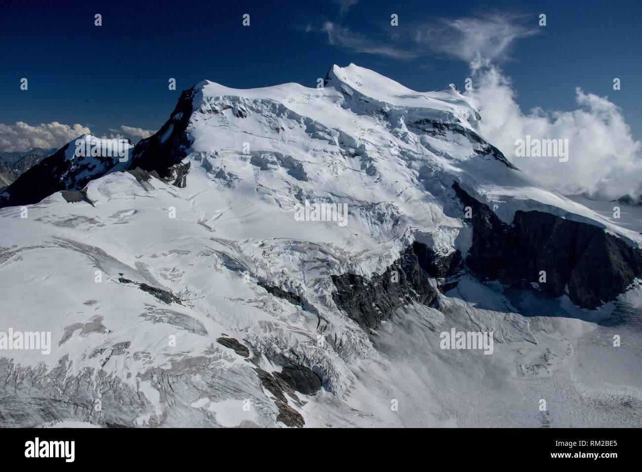 Grand Combin, Switzerland - Aerial - Stock Image