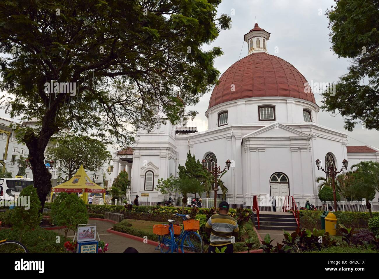 Protestant Church in Western Indonesia Immanuel, Old Town of Semarang, Java island, Indonesia, Southeast Asia. - Stock Image