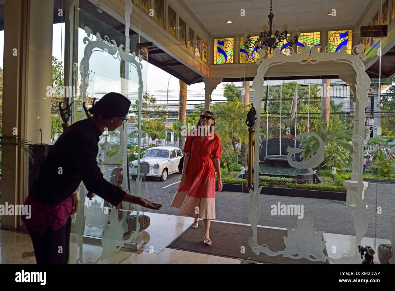 Entrance Of The Luxury Phoenix Hotel Yogyakarta Mgallery By Sofitel Yogyakarta Java Island Indonesia Southeast Asia Stock Photo Alamy