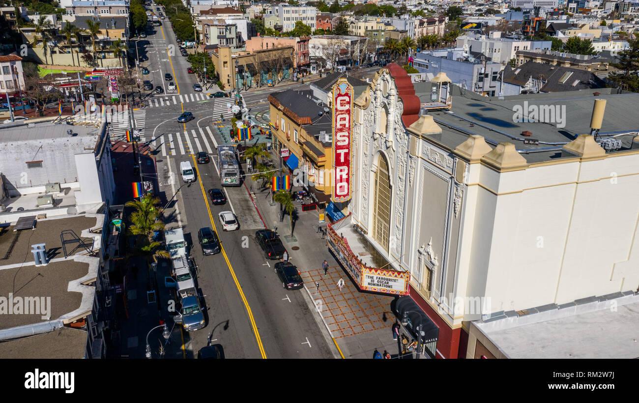 The Castro, Theater, San Francisco, CA, USA - Stock Image