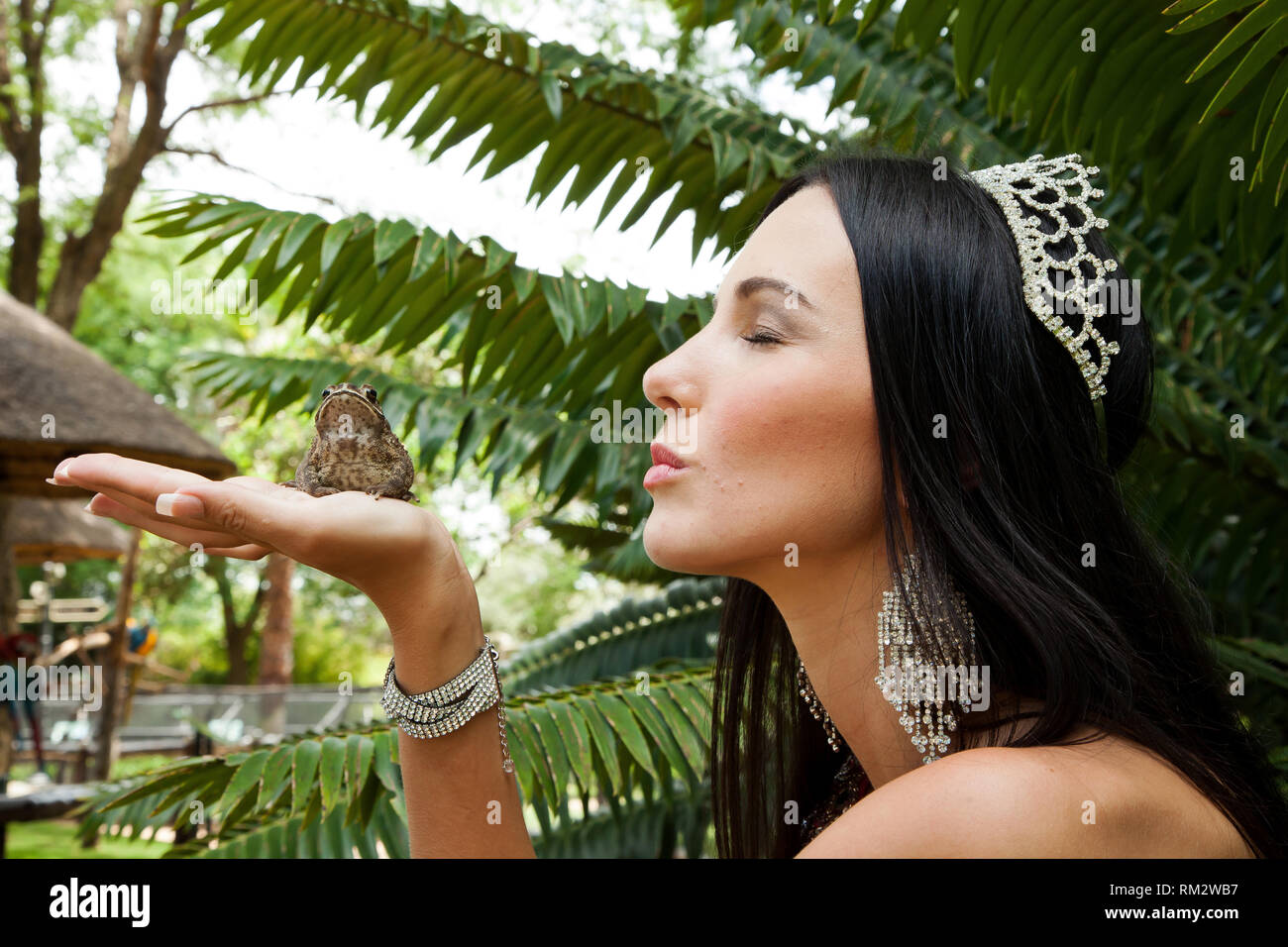 Girl Girl Kissing Frog Stock Photos Girl Frogsing Frog Stock Images - Alamy-9880