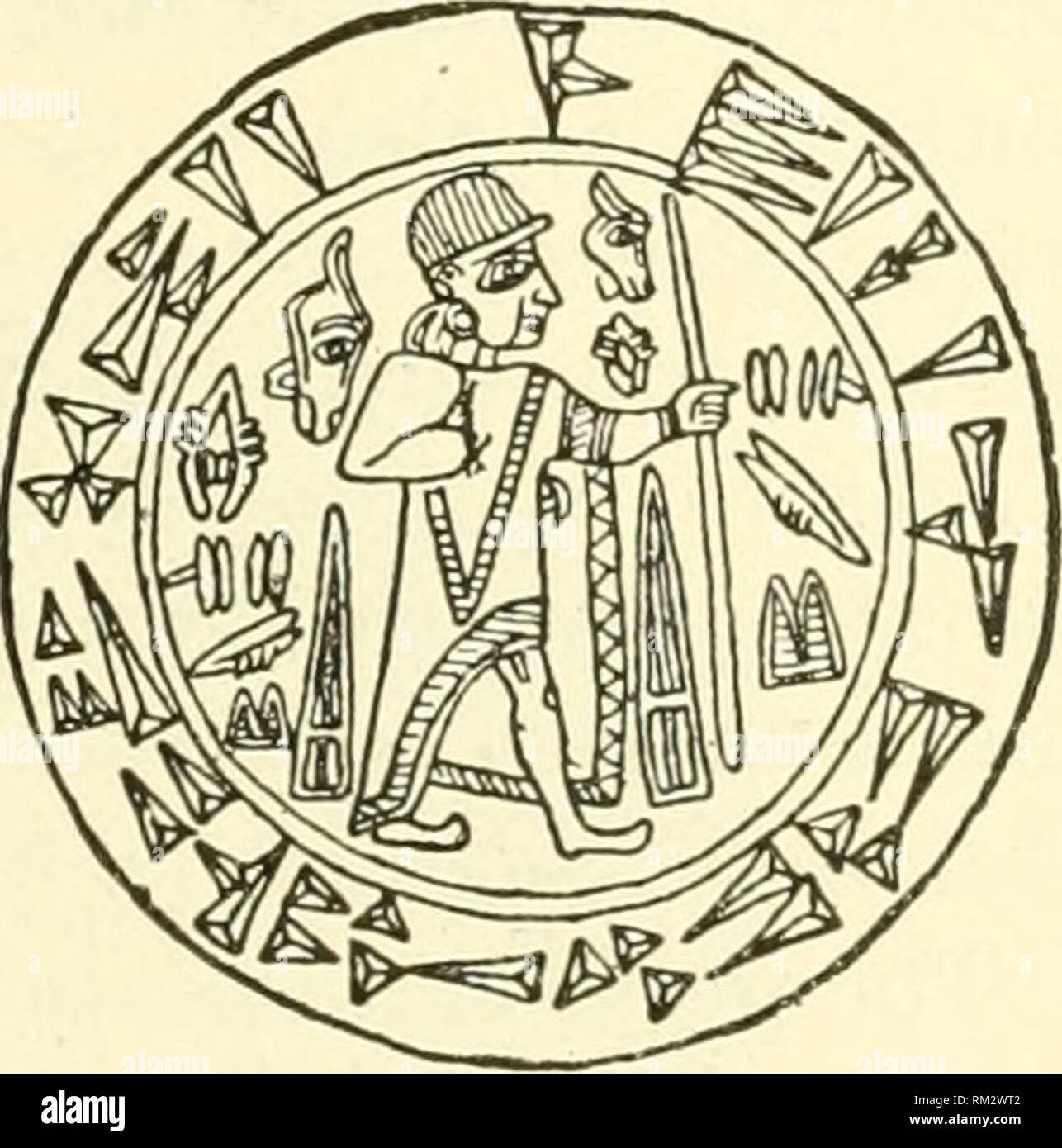 . Annual report of the Board of Regents of the Smithsonian Institution. Smithsonian Institution; Smithsonian Institution. Archives; Discoveries in science. THE ANCIENT HITTITES. 691 close attention, have been In vain. The cause of faihire is the meager t)r indefinite information concerning the Hittites on the part of their neighbors or successors, and the puzzling complications of their sys- tem of writing. It is approximately estimated that there are already known more than 200 signs in their system, and this number is increas- ing with each new inscription. As far as can l)c inferred from th Stock Photo