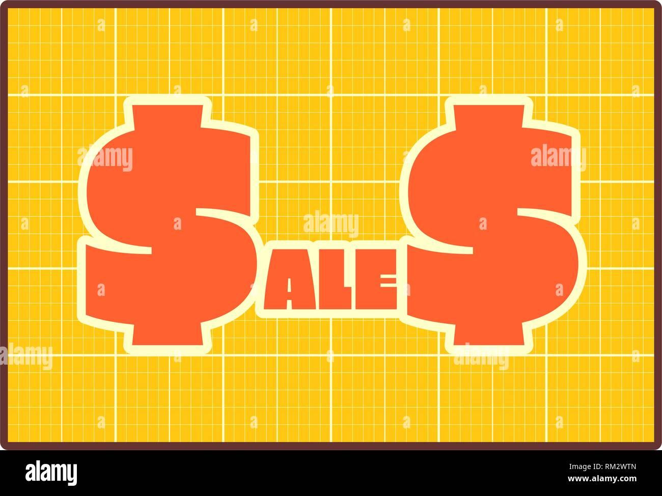 Sales draft style sticker - Stock Vector