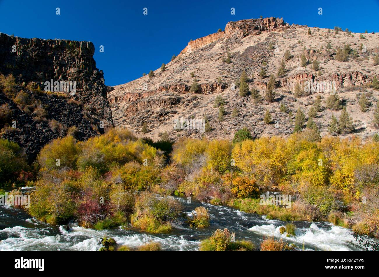 Deschutes Wild and Scenic River from Scout Camp Trail, Steelhead Falls Wilderness Study Area, Prineville District Bureau of Land Management, Oregon. - Stock Image