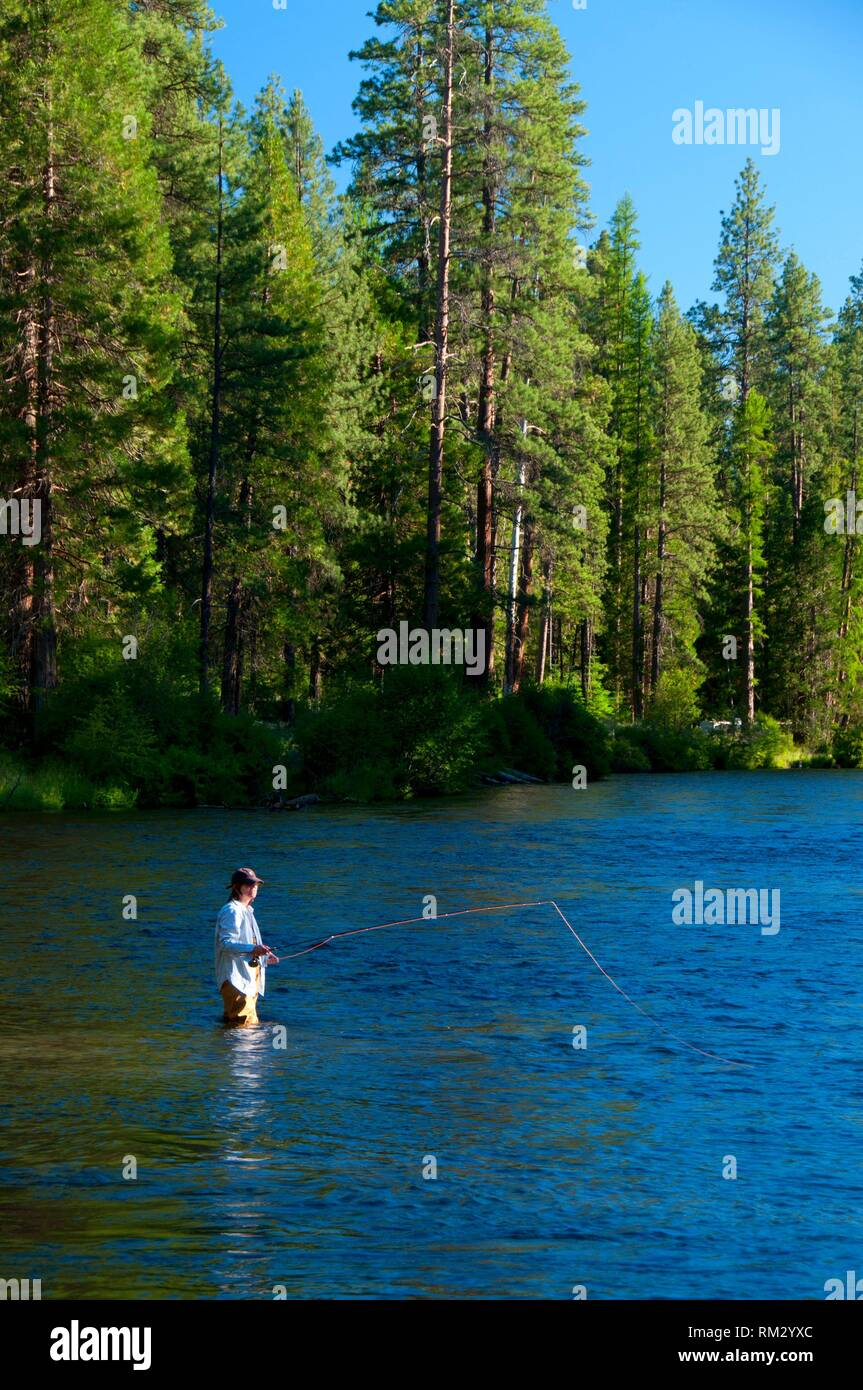 Deschutes River Fishing Oregon Stock Photos & Deschutes River