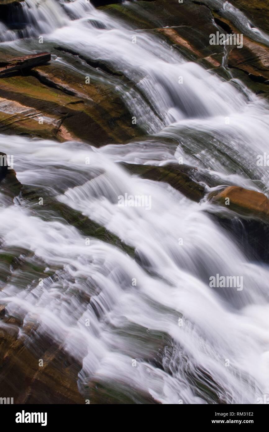 Great Falls on Housatonic River, Appalachian National Scenic Trail, Falls Village, Connecticut. - Stock Image