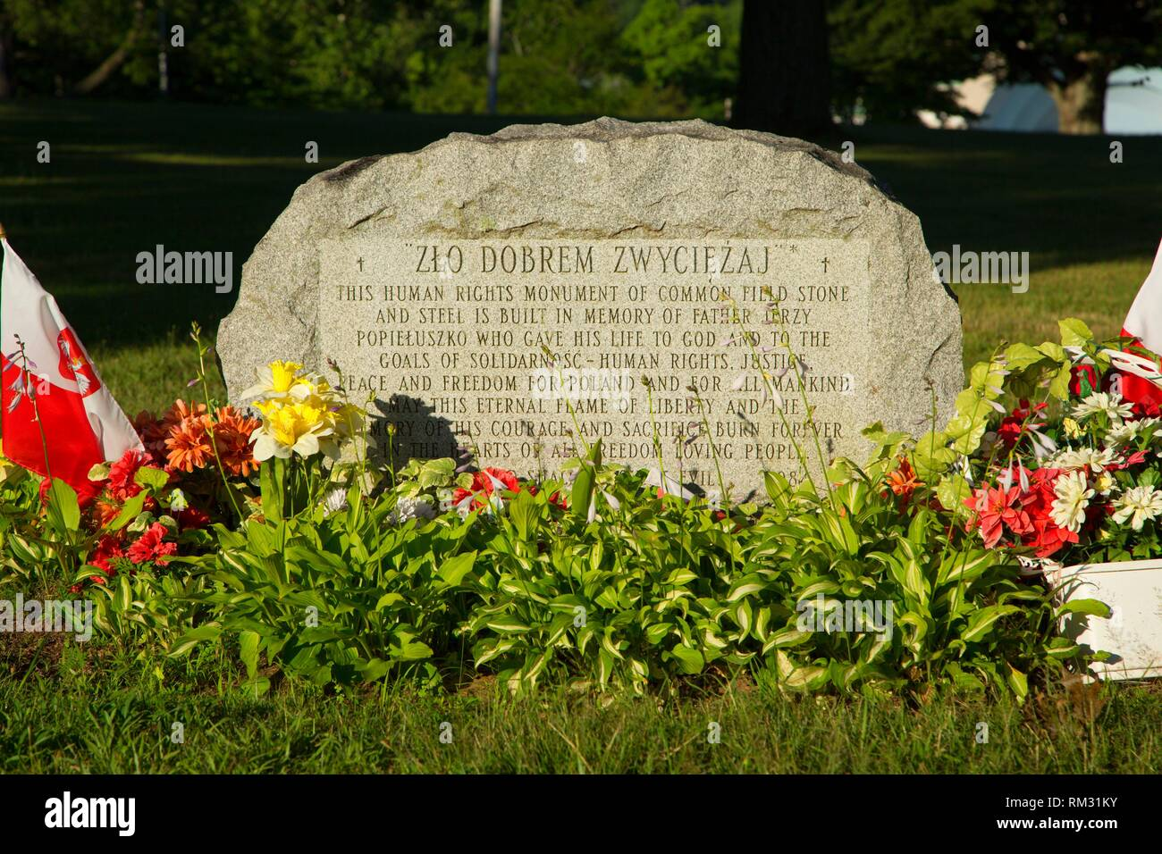 Human Rights Monument, Walnut Hill Park, New Britain, Connecticut. - Stock Image