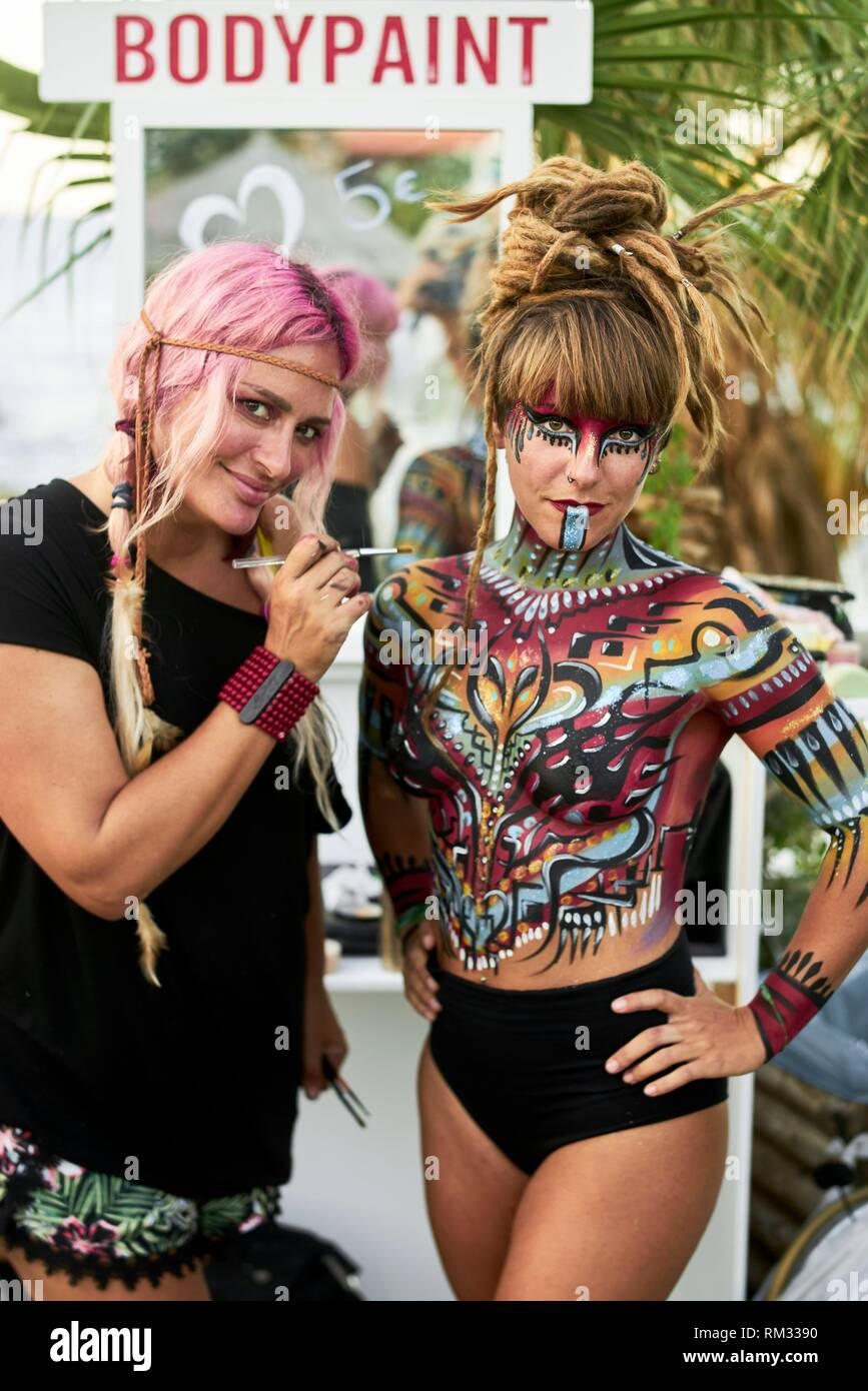 Body Painting High Resolution Stock Photography And Images Alamy