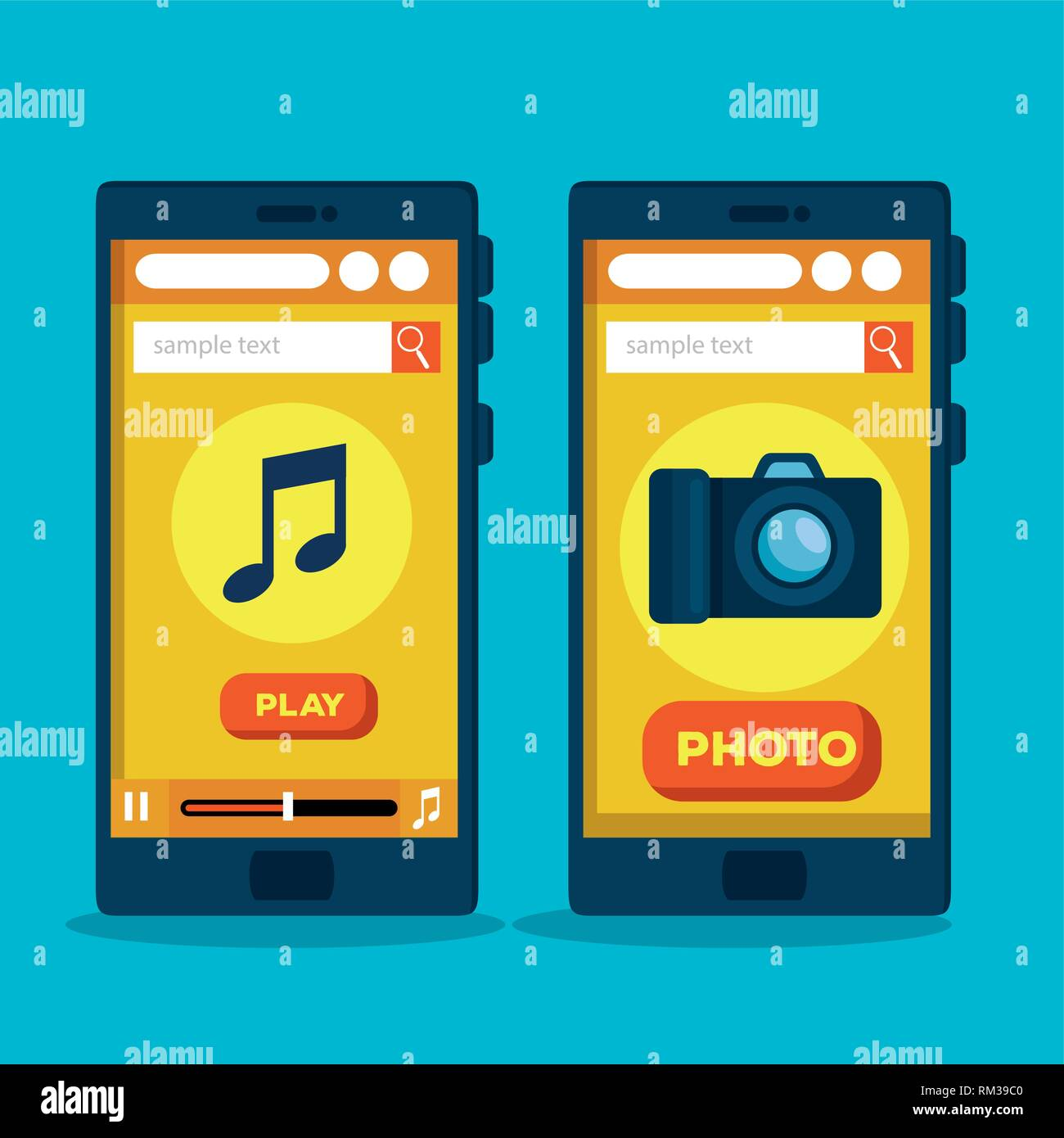 smartphones website strategy to sell online - Stock Image