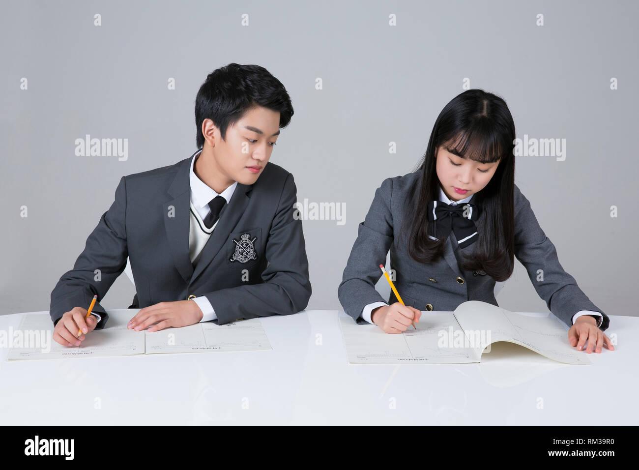 Life of high school students, senior school students concept photo 278 - Stock Image