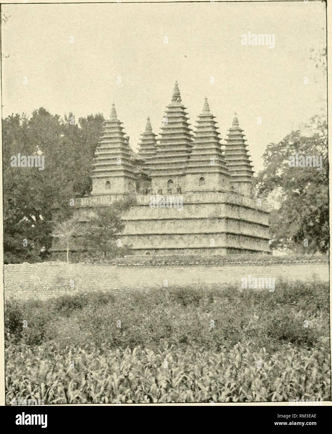 . Annual report of the Board of Regents of the Smithsonian Institution. Smithsonian Institution; Smithsonian Institution. Archives; Discoveries in science. Smithsonian Report, 1 904.—Bushell. Plate XVII.. flve-toa^ered temple, wu t'a ssu, near peking. copy of Mahabodhi at Buddha-Gaya. Fifteenth Century.. Please note that these images are extracted from scanned page images that may have been digitally enhanced for readability - coloration and appearance of these illustrations may not perfectly resemble the original work.. Smithsonian Institution. Board of Regents; United States National Museum. - Stock Image