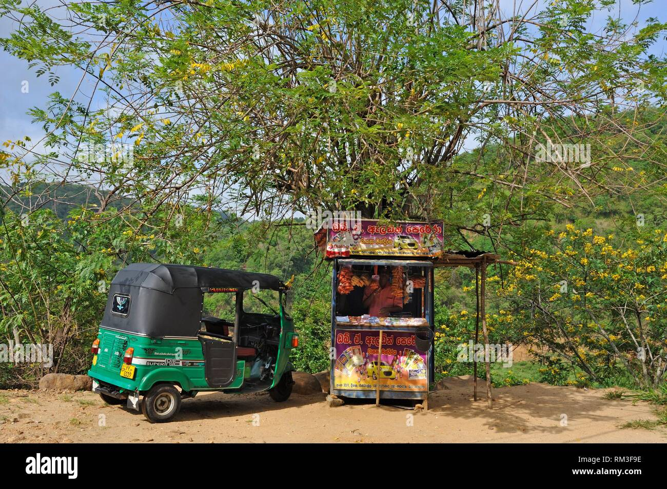lottery kiosq on the side of the road, Badulla district, Sri Lanka, Indian subcontinent, South Asia. - Stock Image