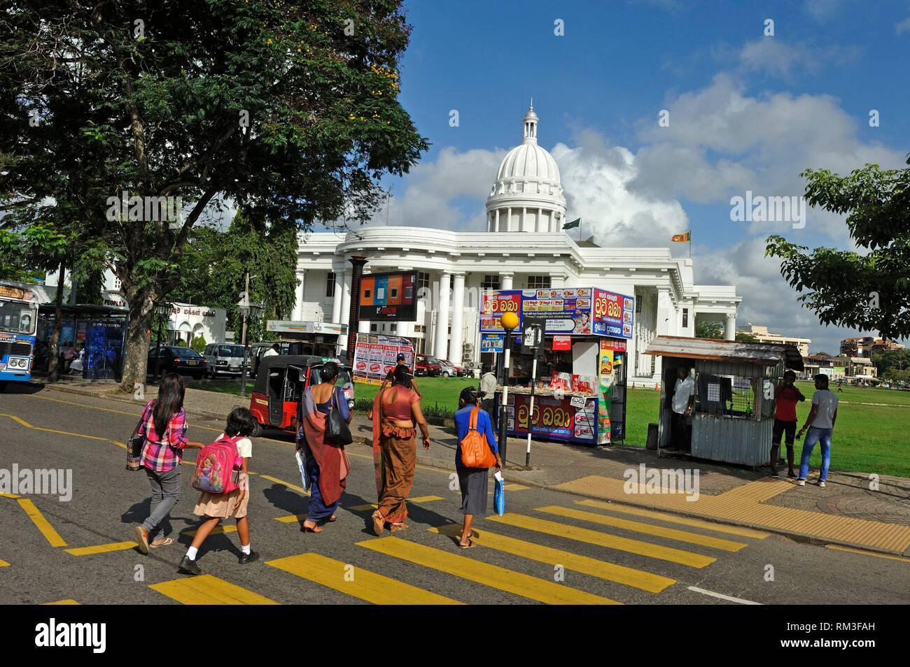 crosswalk in front of the Colombo Municipal Council., Colombo, Sri Lanka, Indian subcontinent, South Asia. - Stock Image